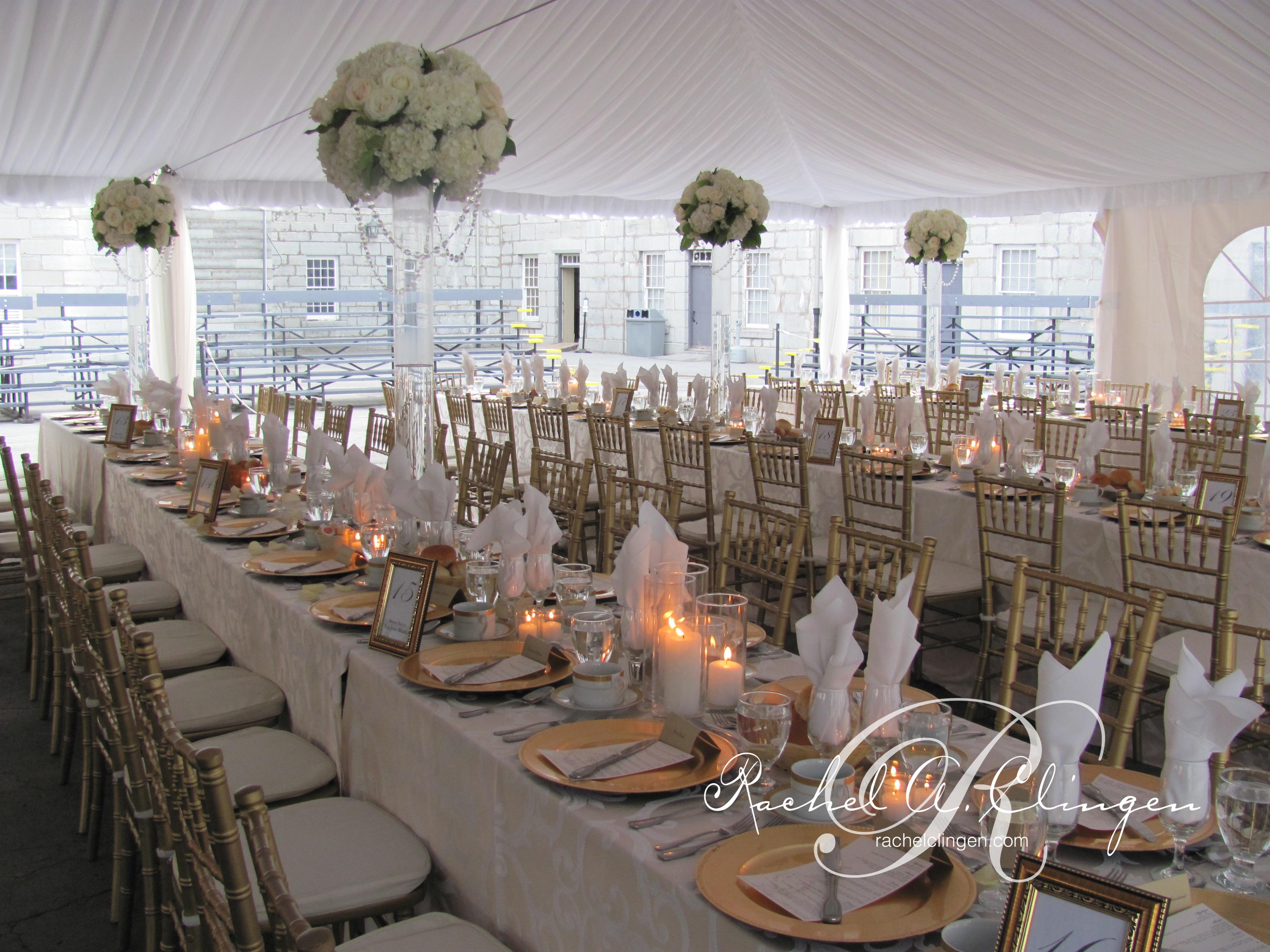 wedding decor centrepieces toronto fort henry