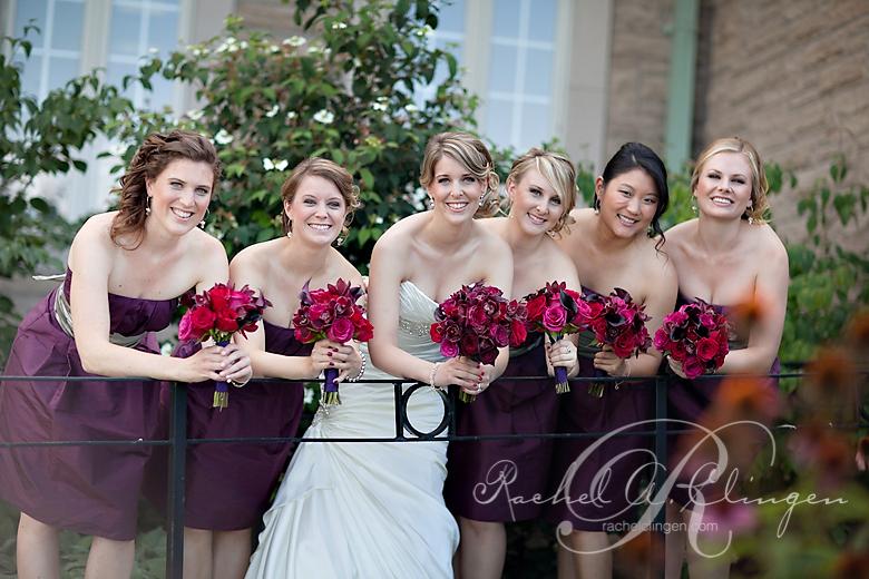 bridal party bouquets at Chateau Des Charmes