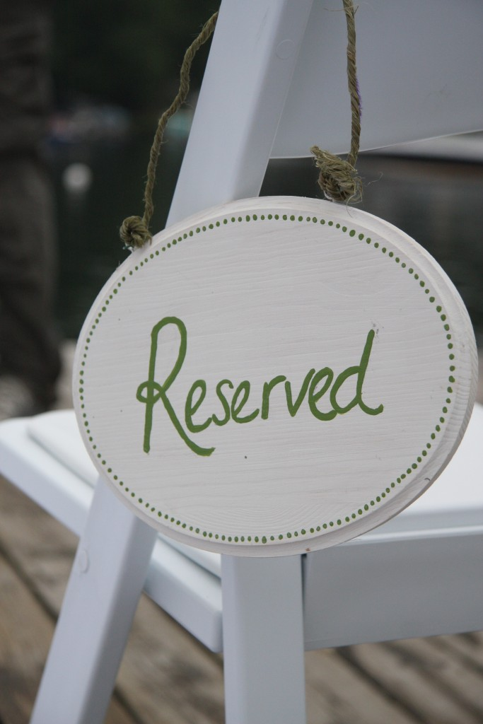 Ceremony reserved sign