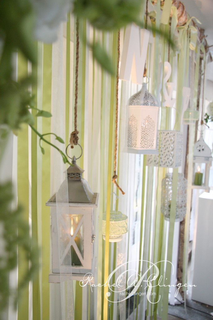 Ribbons and vintage lanterns