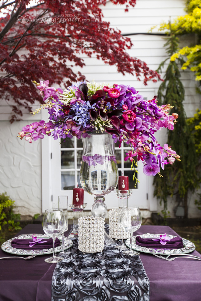 Pretty Purples… Wedding Flowers At The Doctors House In Kleinburg