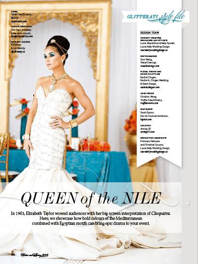 WedLuxe Queen of the Nile luxury wedding styleshoot