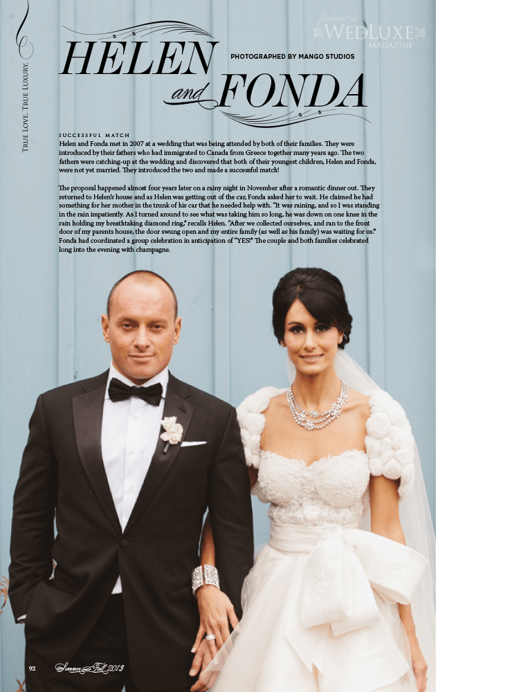 Helen and Fonda's Gorgeous Real Wedding at the Crystal Fountain Toronto