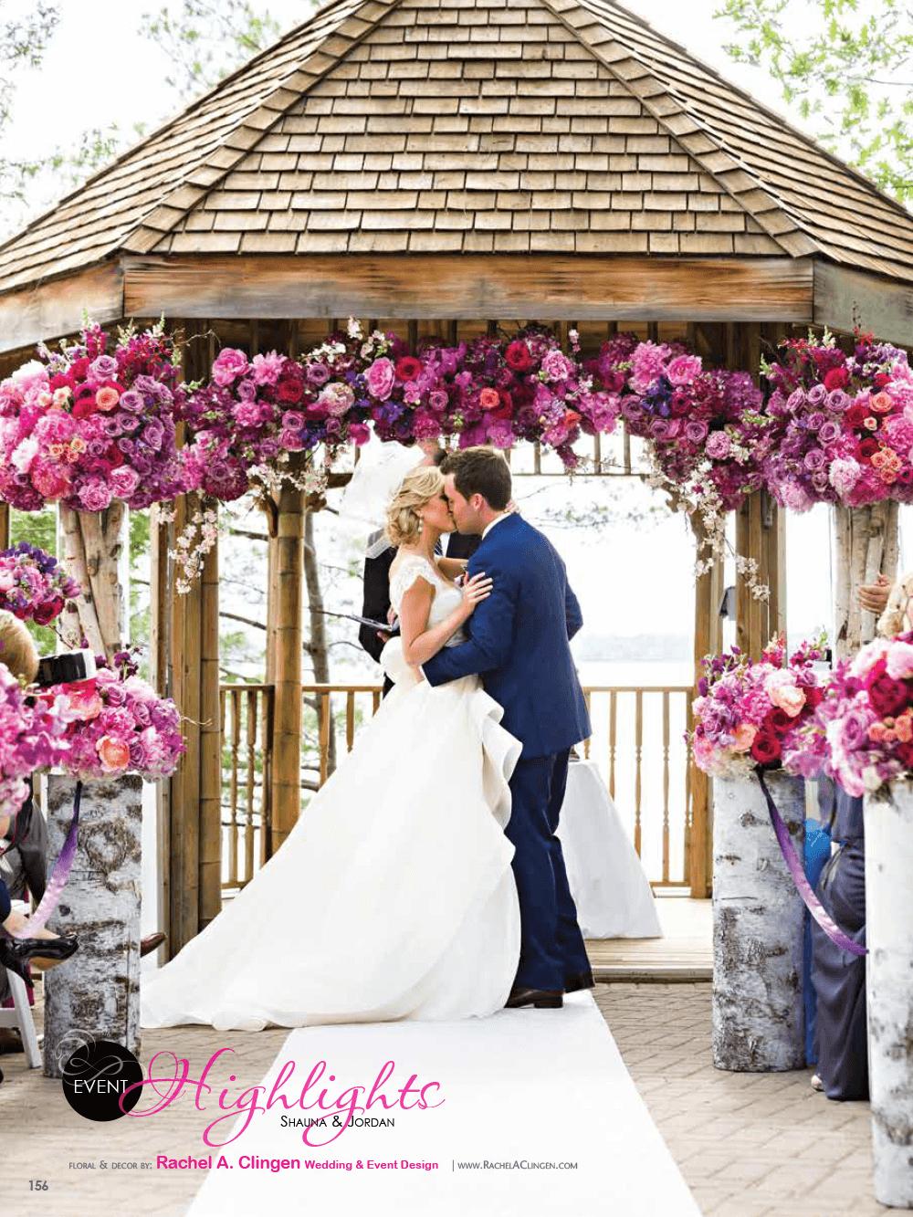 Elegant Wedding Magazine Muskoka Weddings At Taboo Resort