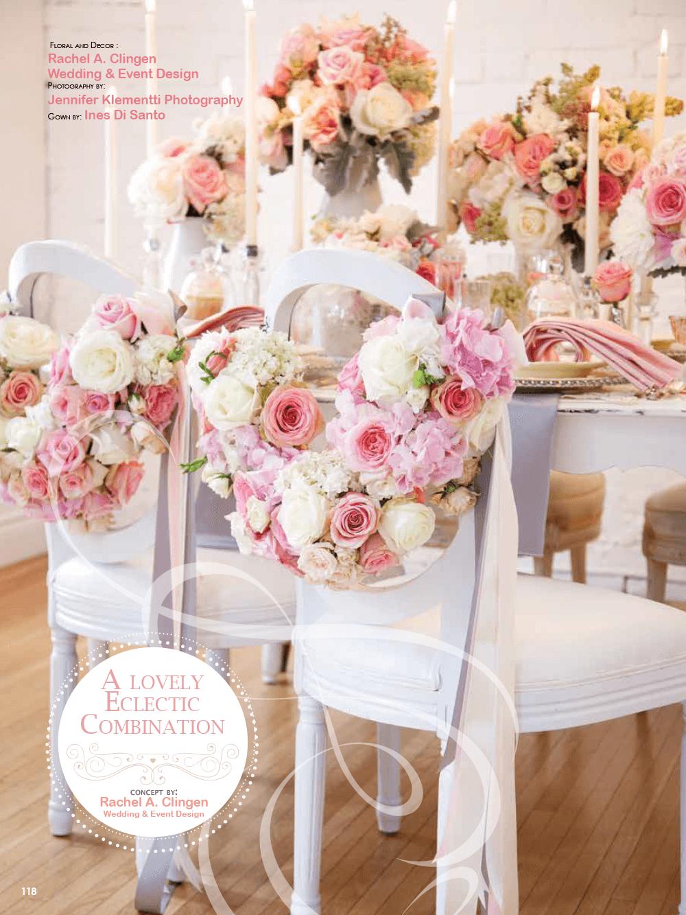 Shabby Chic Creative Styleshoot for Elegant Wedding Magazine by Rachel A. Clingen Wedding Design, Decor & Flowers