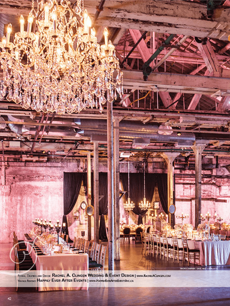 A Couture Wedding at Toronto's Fermenting Cellar