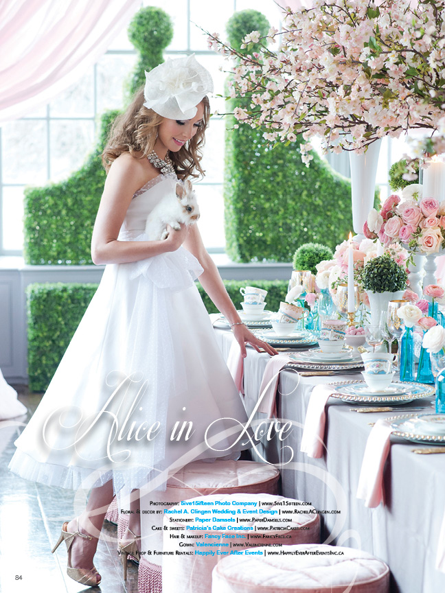 Alice In Love:  A fantasy inspired wedding shoot