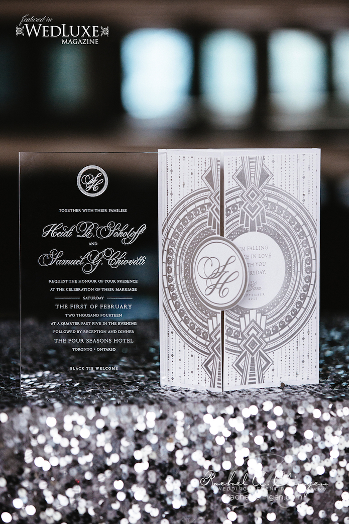 Luxury Plexi Wedding Invitations Toronto