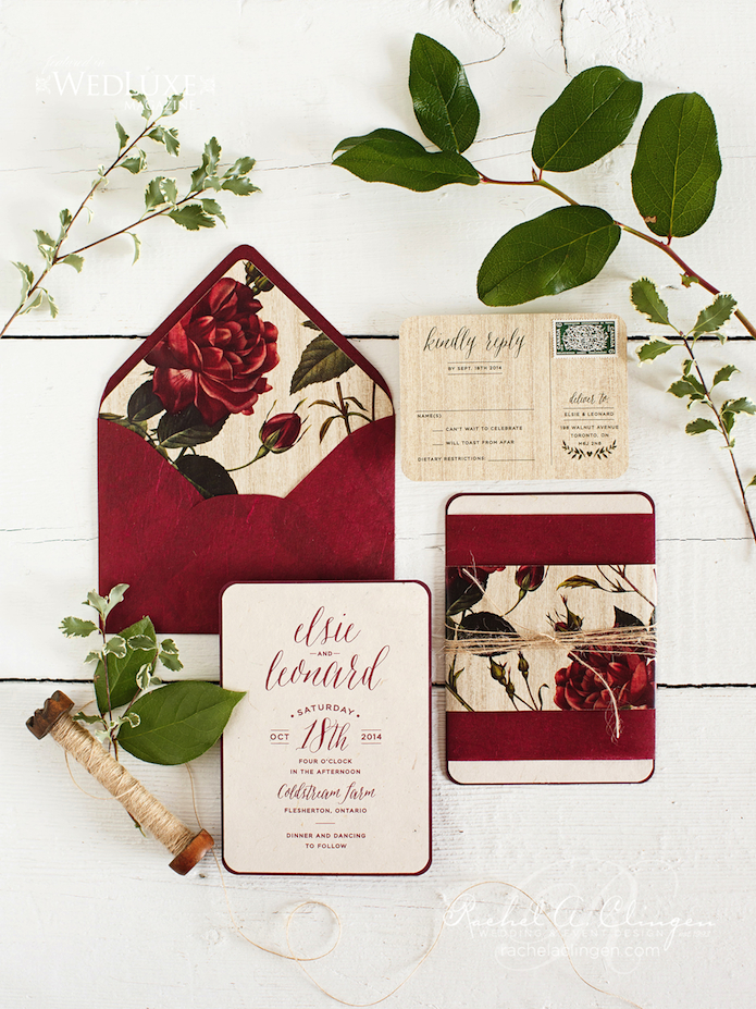 Autumn Wedding Invitations Toronto