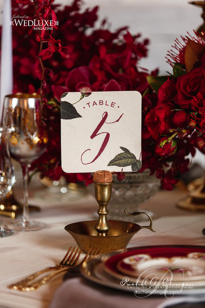 Autumn Weddings Table Numbers