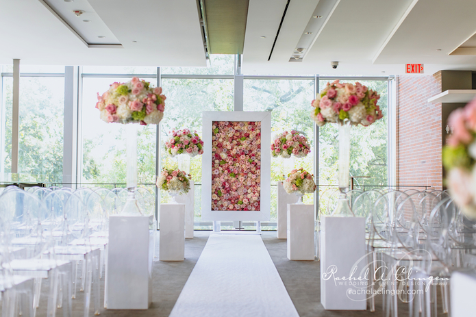 A Modern White Wedding Ceremony: A Summer Wedding At Royal Conservatory Of Music