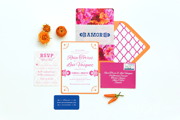 Luxury Wedding Stationary Cinco De Mayo