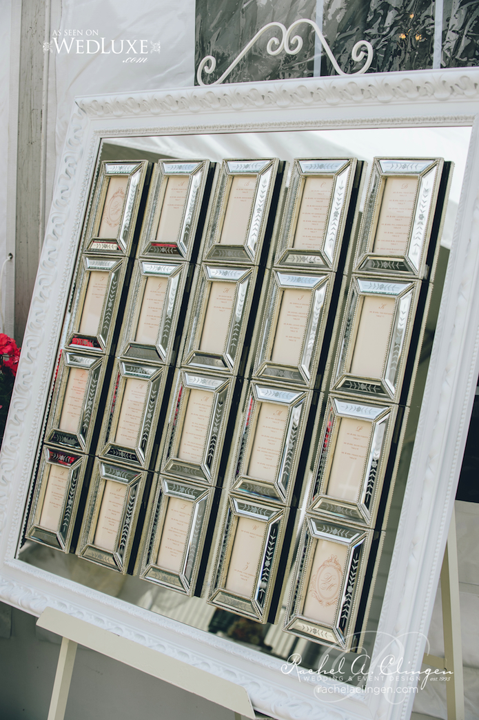 Mirrored Seating Chart Decor