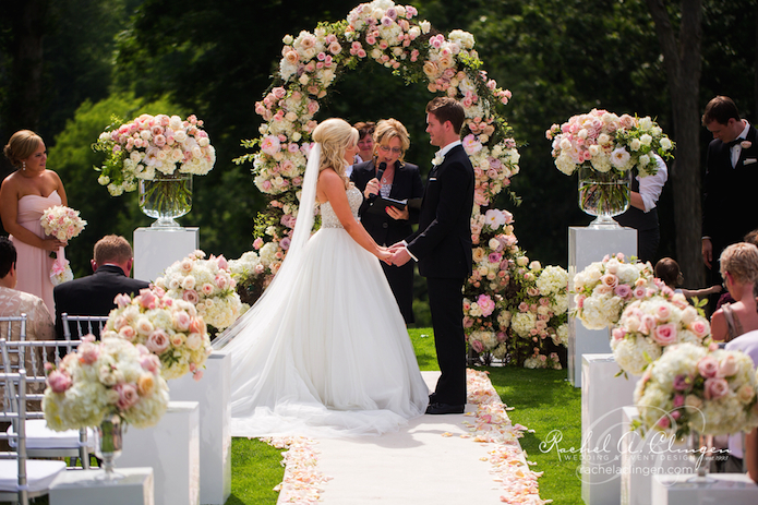 Outdoor Wedding Ceremony: A Beautiful Garden Wedding At The London Hunt Club
