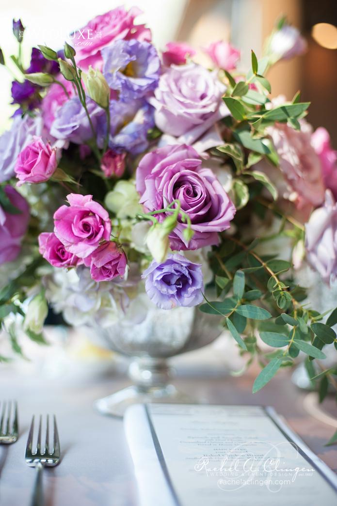 Purple Wedding Flowers Centrepieces