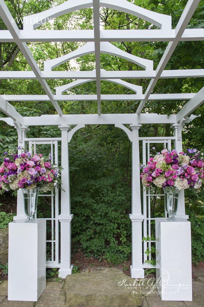 Purple Wedding Flowers Decor Rachel A. Clingen