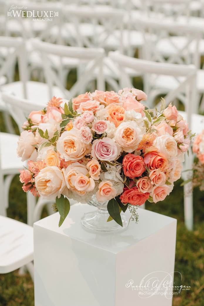 Ceremony Flowers Peach Coral