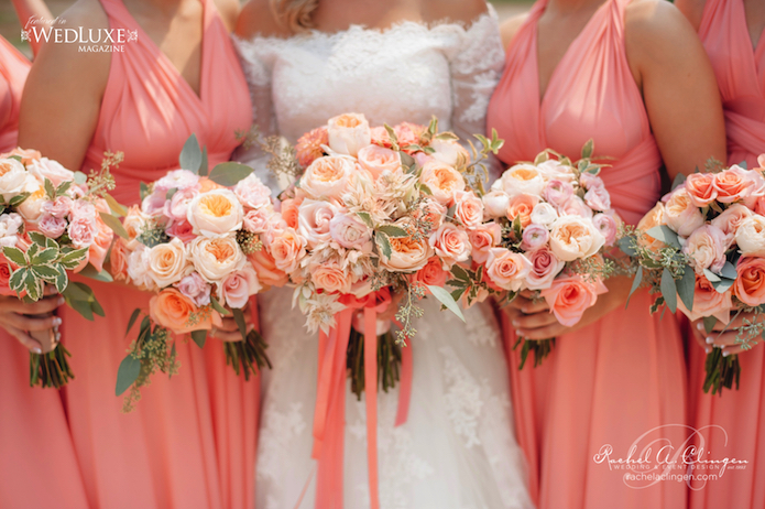 Coral peach wedding flowers wedding decor toronto rachel a coral peach wedding flowers junglespirit Images