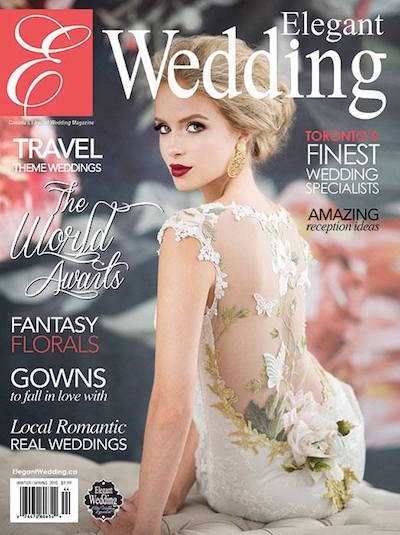 Rachel A. Clingen Luxury Weddings Toronto as featured in Elegant Wedding Magazine