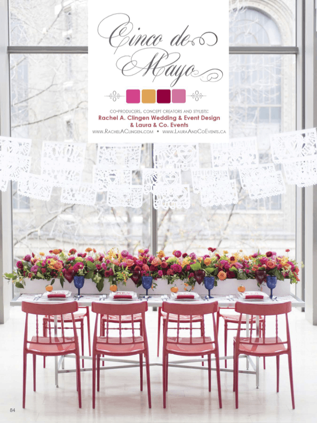 A mexican inspired wedding as featured in Elegant Wedding Magazine