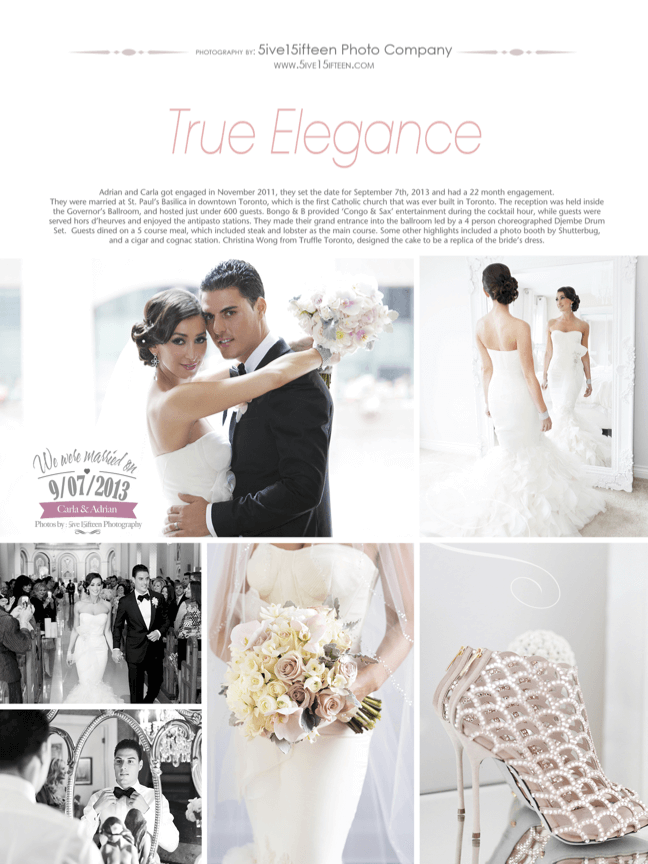 Adrian and Carla's True Elegance Wedding
