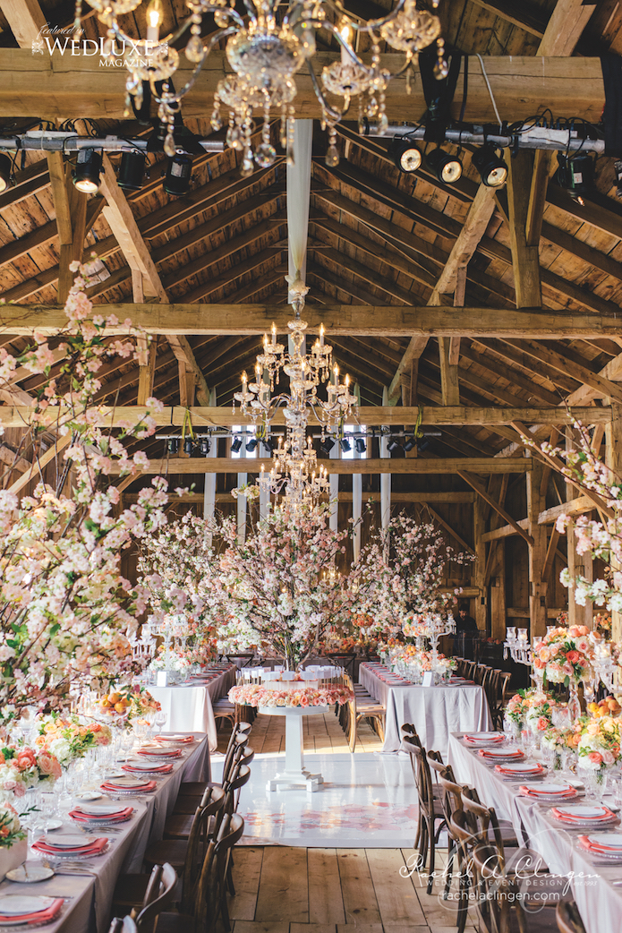 Incredible Cherry Blossom Barn Wedding