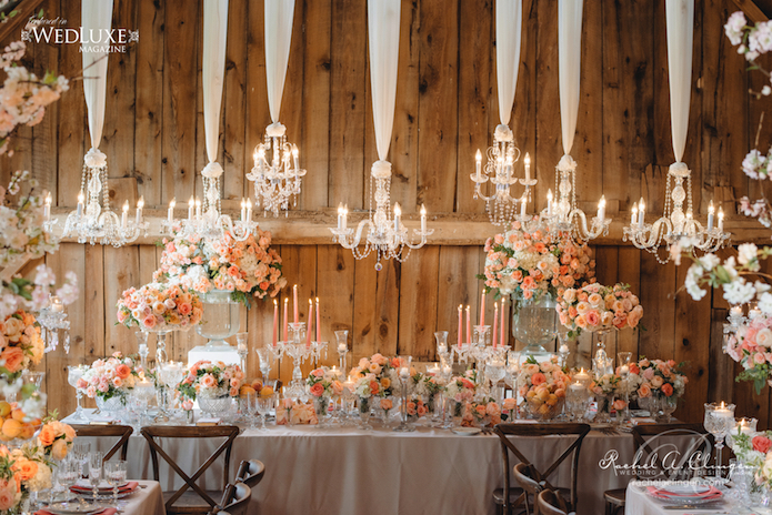 Luxury Barn Wedding Flowers