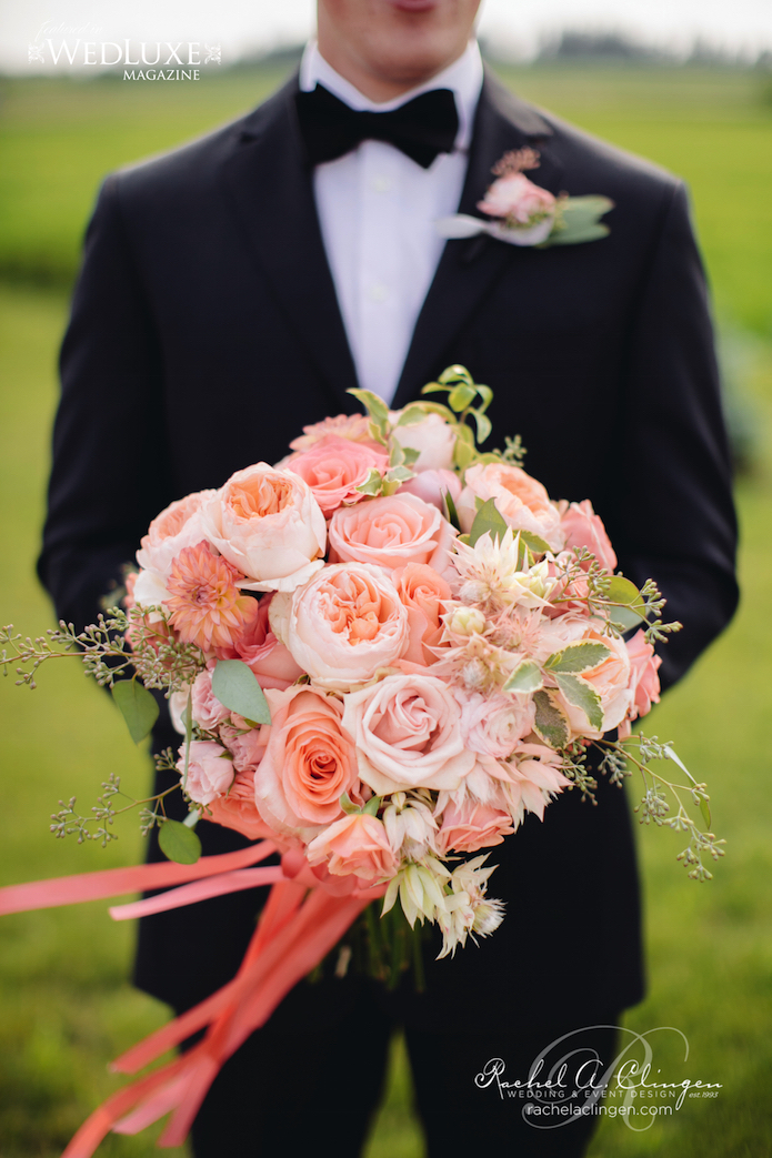 Peach Coral Bridal Flowers Toronto
