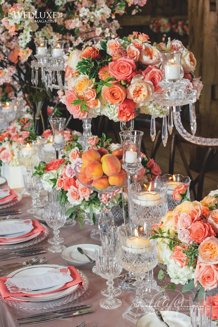 Peach Themed Wedding