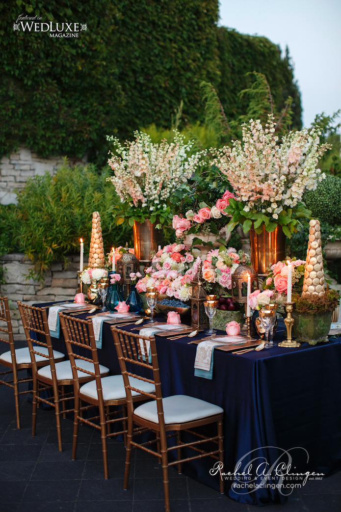 Navy and Peach Hanging Gardens Of Babylon Wedding Creative