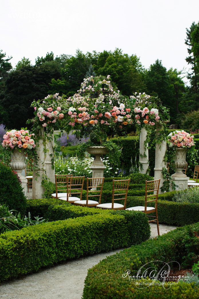 Floral Wedding Gazebo Botanical Gardens