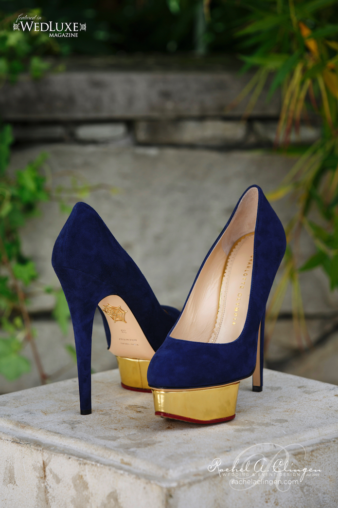 Gold Navy Wedding Shoes