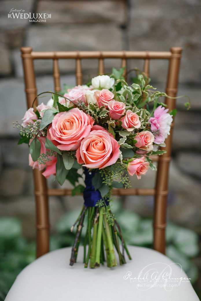 Peach Coral Wedding Flowers Toronto