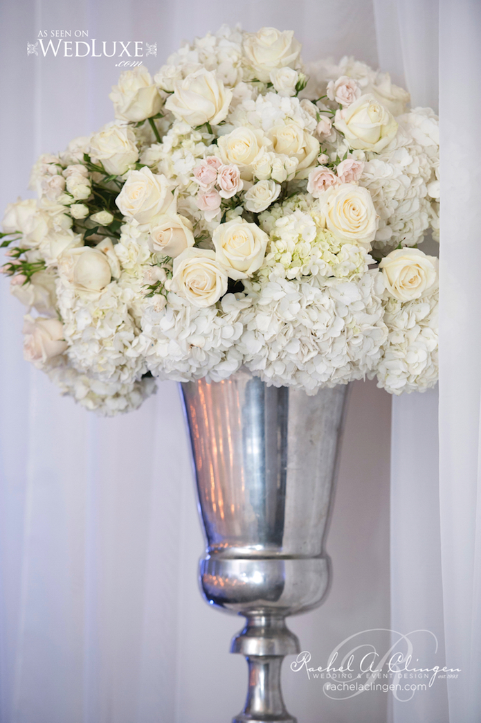 White Silver Wedding Decor Flowers Toronto