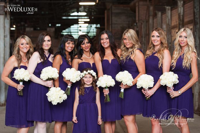 White Wedding Toronto Bridesmaids