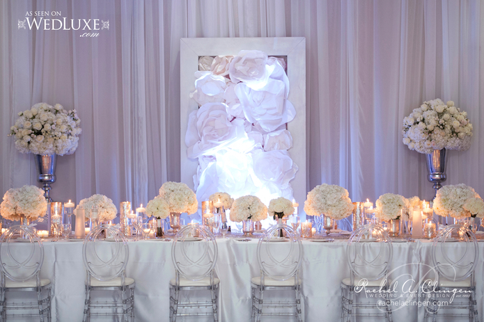 White Weddings Head Table Flowers Toronto