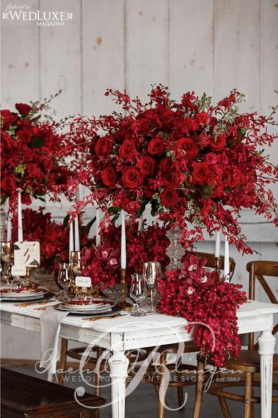 deep red autumn wedding centerpieces toronto wedding decor toronto rachel a clingen wedding. Black Bedroom Furniture Sets. Home Design Ideas