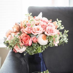 Juliet garden rose and greenery wedding bouquet Rachel A. Clingen Toronto