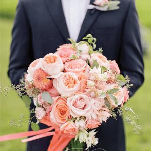 Juliet garden roses cascading bridal bouquet Rachel A. Clingen Toronto