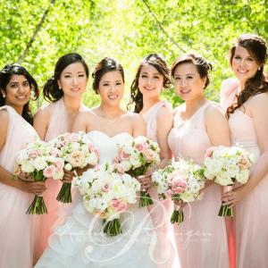 Lavish bridal party bouquets by Rachel A. Clingen weddings