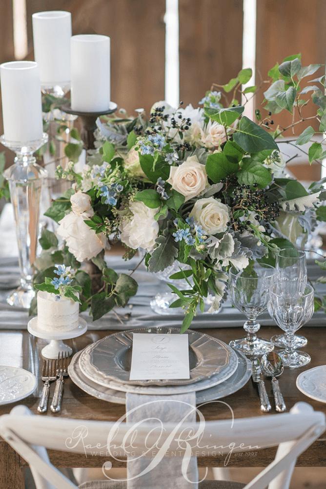 Lush Wedding Centerpiece Roses Greenery Foliage Wedding Decor