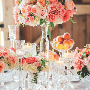 Luxurious wedding centerpieces for Caleb and Chelsie by Rachel A. Clingen design and decor Toronto
