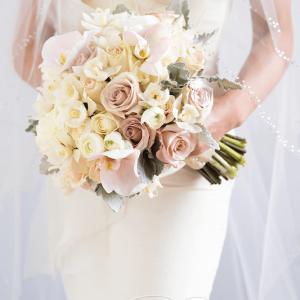 Phalaenopsis neutral wedding bouquet Rachel A. Clingen wedding design flowers Toronto