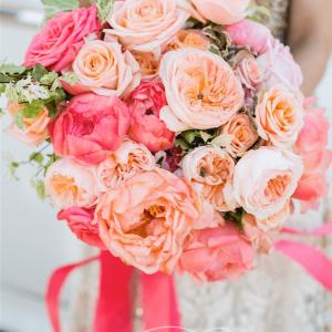 Pink Coral wedding bouquet Rachel A. Clingen Toronto
