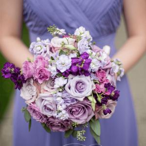 Rich purple, violet & lavender Toronto Wedding Flowers