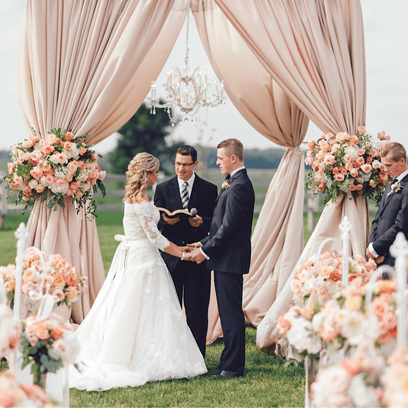 Luxurious Toronto Wedding Ceremonies designed by Rachel A. Clingen Wedding Design and Decor.