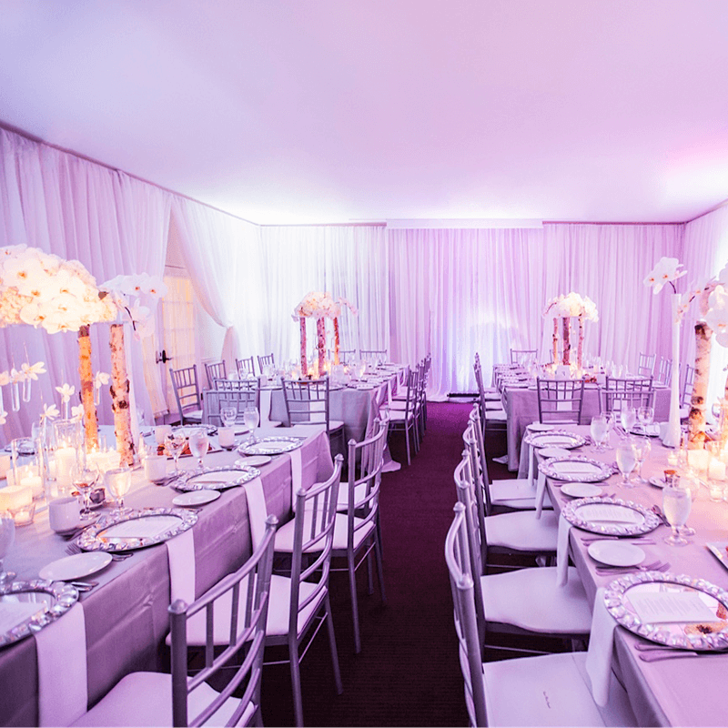 Elegant draping can transform an entire location for you wedding.
