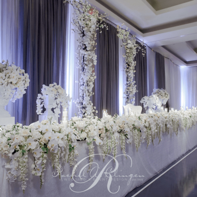 White Floral Head Table