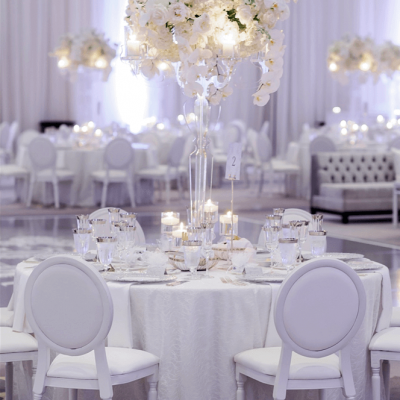 White Flower Wedding Centerpiece