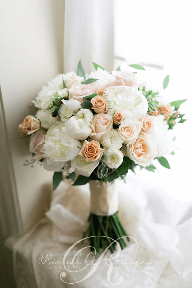 White Peach Wedding Bouquet Toronto Decor Rachel A Clingen Event Design